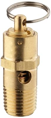 "Kingston KSV10 Series Brass ASME-Code Low Profile Safety Valve, 175 psi Set Pressure, 1/4"" NPT Male from Kingston Valves"