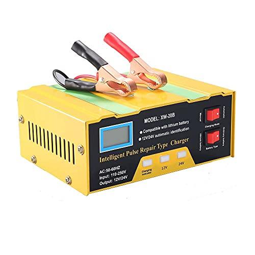 Cargador de coche, cargador de batería para coche, cargador de batería de coche, herramienta compatible con batería de litio de 12,6 V y batería de 12 V/24 V.
