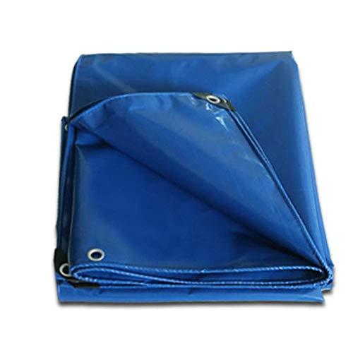 XBSXP Blue Canvas Hochleistungsplanen mit Ösen - UV-beständige wasserdichte Plane für LKW-Außenzelte während des Campings 500 g/g Langlebig und schützend