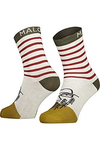 Maloja M Thistlem. Socken Gestreift-Grün-Weiß, Herren Socken, Größe EU 39-42 - Farbe Moss Multi