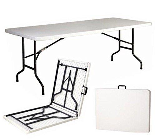 Mesa plegable de resina dura de 240 x 76 x 74 (altura)...