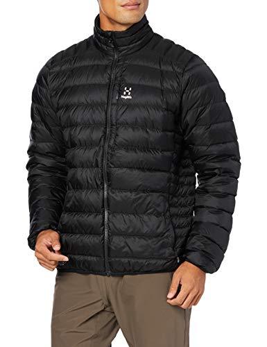 [ホグロフス] 軽量、撥水ダウン ロック ダウン ジャケット Roc Down Jacket Men メンズ True black UK M (日本サイズL相当)