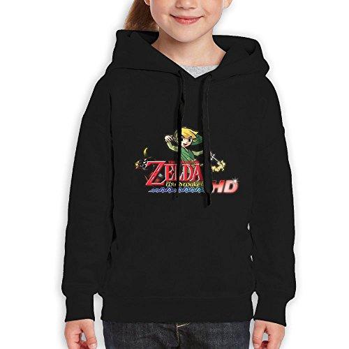 Geneva F Teenager Hoodie The Legend Of Zelda Wind Waker Boys and Girls Hoodiesrn Black M