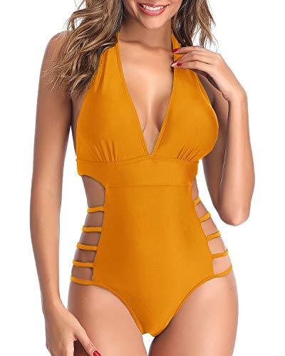 Tempt Me Einteiliger Badeanzug für Damen, mit hohem Beinausschnitt - - Small