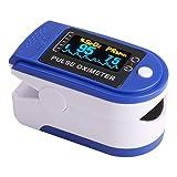 Lipeed Medidor de oxígeno, oxímetro de Pulso de Dedo médico con Pantalla LCD en Color, Alta precisión, Dedo del medidor de oxígeno para medidor de oxígeno de Dedo