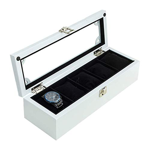 Wooden Watch Box wellery Watches Rage Display Case Bracelet Tray with 5illows, Cufflink Orga SZWHO
