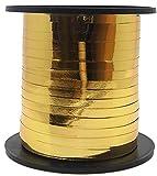 Unique Party 48502-Cinta de Regalo Meters, Color Oro, 45 m (48502)