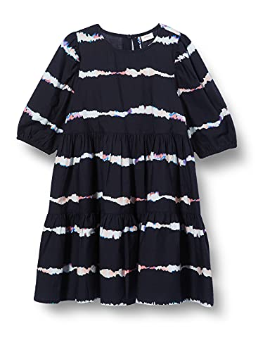 s.Oliver Junior Mädchen 401.10.104.20.200.2062338 Kinderkleid, Navy Stripes, 164