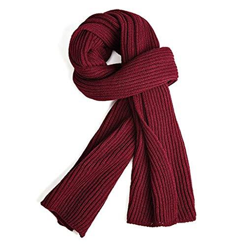 VICSPORT Bufanda cálida del otoño y del invierno, Unisex Cuello puro del invierno del color Bufanda caliente del hilado que hace punto