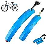 Guardabarros De Bicicleta Guardabarros para Bicicleta De Montaña De Carretera, Juego De Guardabarros De Bicicleta Ajustable Delantero Trasero 2PCS con Luz Trasera Azul