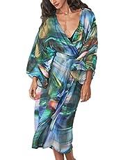 L-Peach Kaftan Vestido Largo de Playa para Mujer
