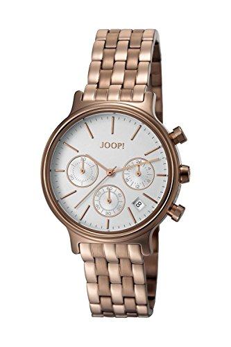 Joop! Damen Chronograph Quarz Uhr mit Edelstahl Armband JP101502007