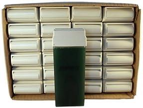 Epilwax Conjunto de 24 Cartuchos de roll on de 100 ml de cera depilatoria de azuleno para las piernas, axilas, y el cuerpo – Grande Rollos de Recambio de 100 ml