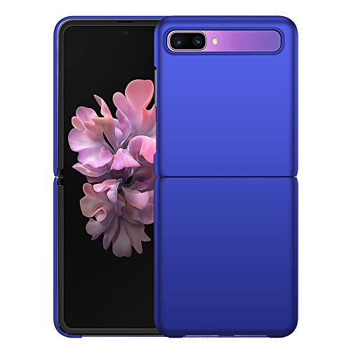 YIIWAY Samsung Galaxy Z Flip Hülle, Blau Sehr Dünn Schutz Hülle Handyhülle Harte Schutzhülle Hülle für Samsung Galaxy Z Flip 5G YW41268
