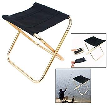 Xrten Tabouret Camping Pliant, Mini Tabouret Pliant Portable Chaise Pliante Portable pour Le Camping, la Pêche, Les Voyages