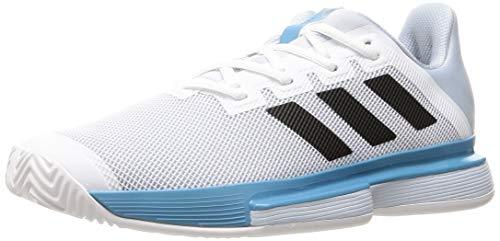 adidas SoleMatch Bounce M, Zapatillas de Tenis Hombre, FTWBLA/NEGBÁS/AZUHAL, 45 1/3 EU