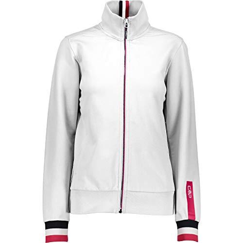 CMP Damen Sweat Jacke Sweatshirt, Bianco, 46