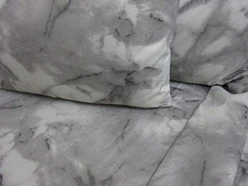 Pago Poco Bettwäsche-Set für Doppelbett aus weicher Mikrofaser, einfarbig, marmoriert, Farbe Grau