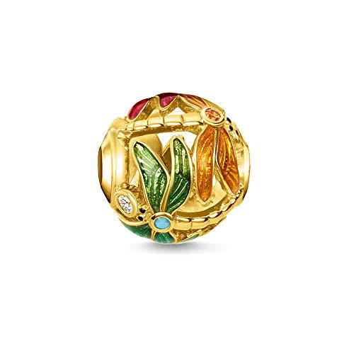 Thomas Sabo Damen-Bead Libelle 925er Sterlingsilber Gelbgold K0314-471-7