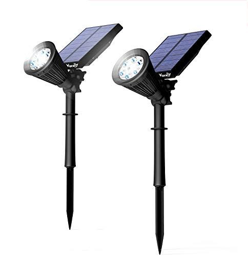 ソーラーライト Vorally センサーライト 屋外 明暗と人感センサー ガーデンライト 明るい6LED 2個セット IP65防水 2モード点灯 夜間自動点灯 防犯・災害対策 日本語取扱付属 1年保証(白光)