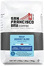 SF Bay Coffee DECAF Gourmet Blend 28 oz Bag, Ground Medium Roast, Swiss Water Process Decaffeinated