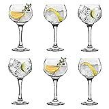 UNISHOP Set de 6 Copas para Gin Tonic, Copas de Combinado de Cristal, 79CL Aptas para Lavavajillas