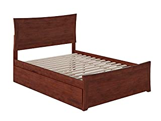 Atlantic Furniture Metro Platform Bed with Matching Footboard and Turbo Charger with Twin Size Urban Trundle, Full, Walnut (B071JQF6VR) | Amazon price tracker / tracking, Amazon price history charts, Amazon price watches, Amazon price drop alerts