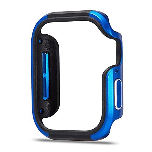 ZLRFCOK Nuevo diseño de aleación de Aluminio + Funda TPU para la Serie de Watch SE Serie 6 5 4 Funda de 44 mm 40 mm Cáscara Parachoques para el Marco del Watch