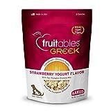 Fruitables Greek Yogurt Dog Treats | Healthy Treats for Dogs | Baked Pumpkin Treats for Dogs | Free of Wheat, Corn and Soy | Strawberry Yogurt | 7 Ounces