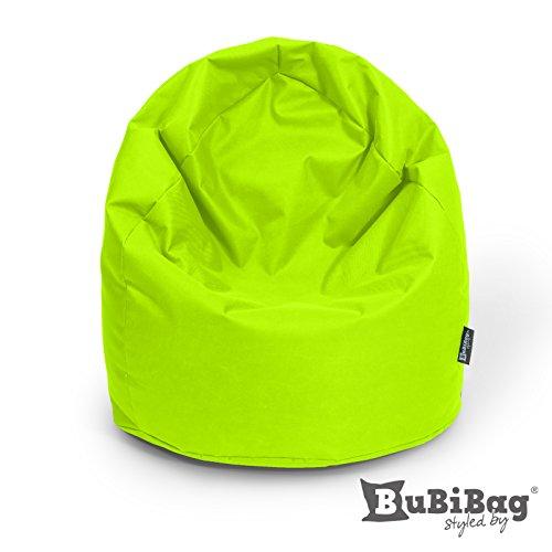 BuBiBag Sitzsack Sitzkissen Birnenform für In & Outdoor XXL 470 Liter - mit Styropor Füllung in 23 diversen Farben (kiwigrün)