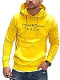Jack & Jones Sudadera con Capucha Suéter Manga Larga para Hombre Casual Streetwear (L, Vibrant Yellow)