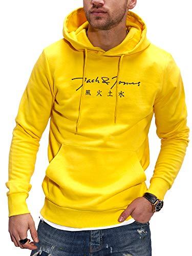 Jack & Jones Sudadera con Capucha Suéter Manga Larga para Hombre Casual Streetwear