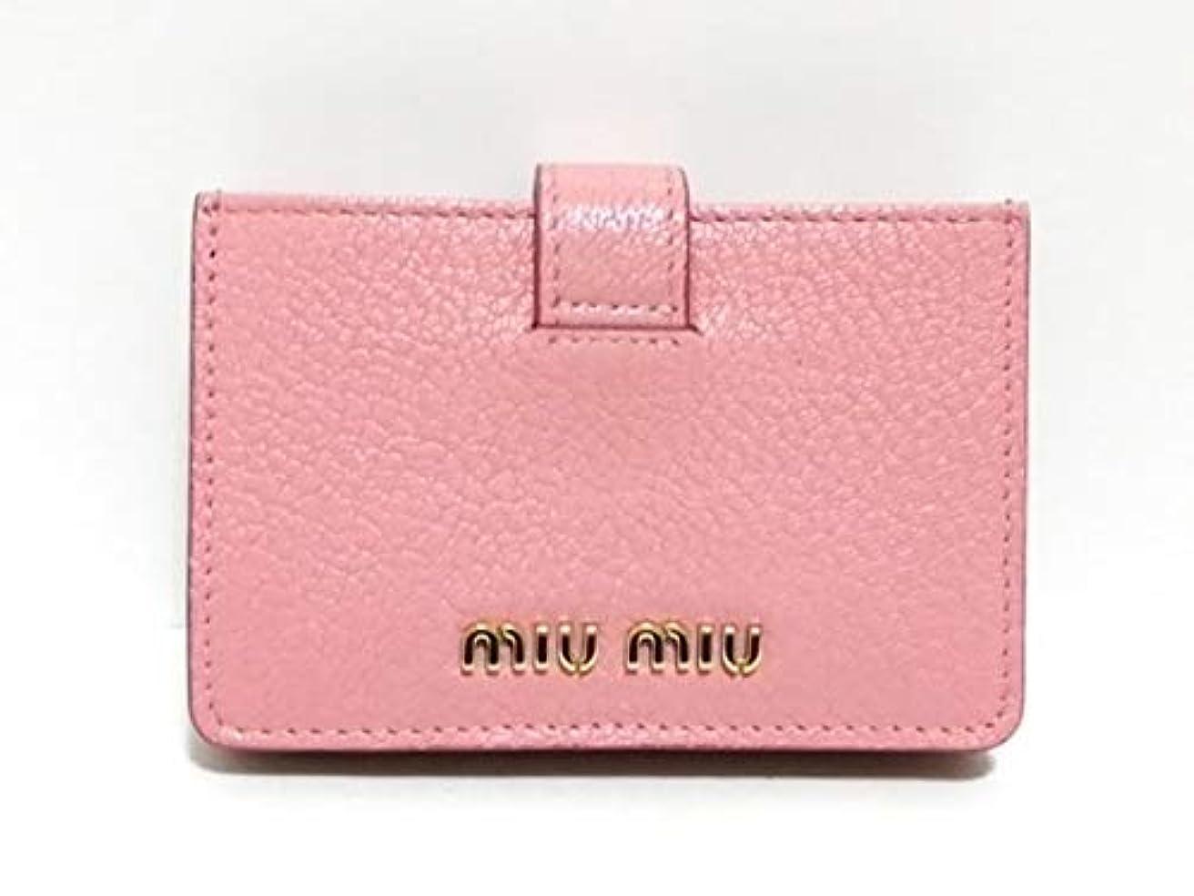 簡単にラボ幻滅(ミュウミュウ)MIUMIU カードケース ピンク×ライトピンク 5MC280 【中古】