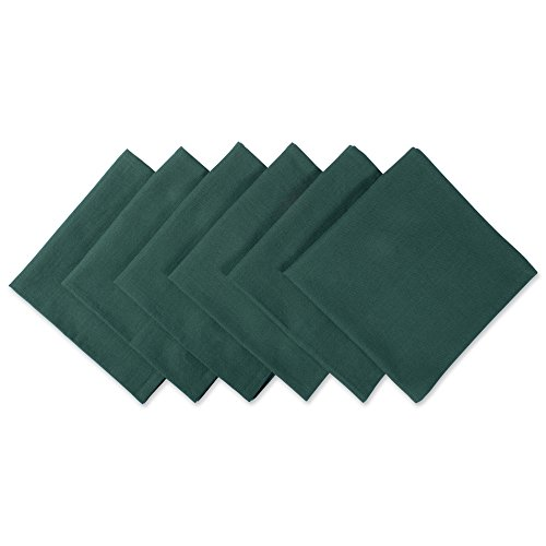 DII Solid Napkin Set Collection, 20x20, Dark Green