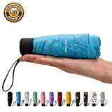 Goothdurs Mini Travel Compact Umbrella –Small Lightweight Folding Sun Umbrella with 95% UV Protection for Men & Women
