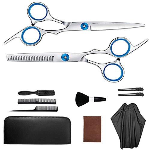 Juego de tijeras de peluquería SUOXU para entresacar el cabello, tijeras de peluquería, tijeras profesionales de peluquería, juego de corte de pelo afilado para niños, hombres y mujeres