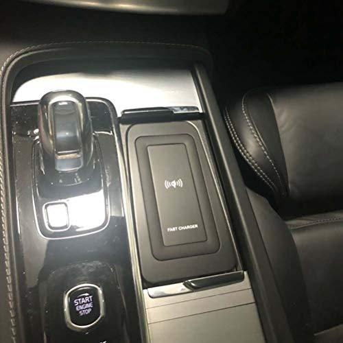 Cargador inalámbrico QI para coche de 10 w, placa de carga, accesorios de cargador de teléfono inalámbrico para Volvo XC90 S90 V90 XC60 V60 C60 2018 2019 2020