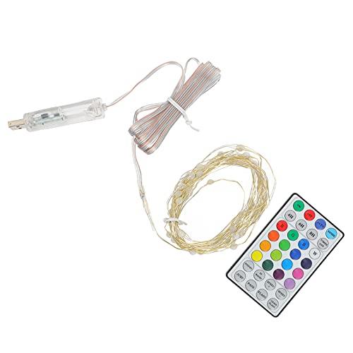 Angoily 1 Juego de Tiras de Luces LED RGB Juego de Tiras de Luces LED de Colores Flexibles con Mando a Distancia para Iluminación del Hogar de TV Cocina KTV Bar Decoración del Hogar