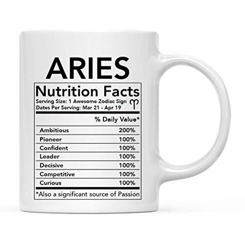 Astrologische Sternzeichen Sternzeichen Kaffeetasse Geschenk, Widder Eigenschaften Nährwertangaben, Horoskop Widder Büro Tasse Geschenke Ideen 11 Unzen