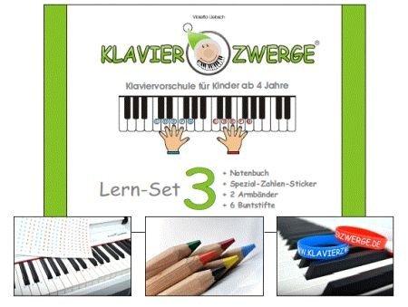 Klavierzwerge Band 3 : Set (Buch +Sticker +Armbänder +Buntstifte)