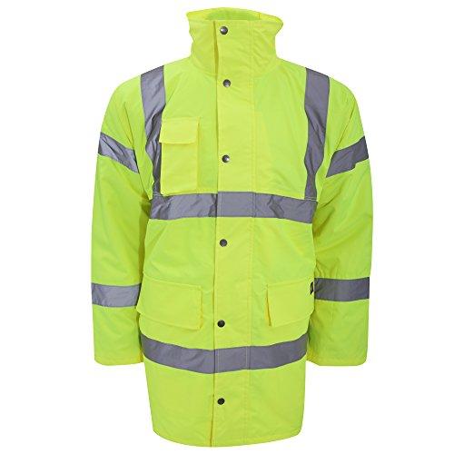 Dickies Parka mit leichtem Futter Warnschutz SA22045, Größe:XXL, Farbe:gelb
