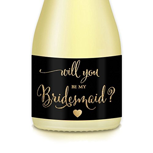 Top 10 bridesmaid proposal mini champagne labels for 2020