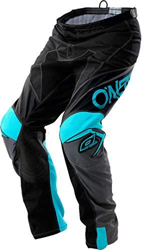 O'NEAL Mayhem Lite Blocker-Hose, Unisex, für Erwachsene, Schwarz/Grau/Blaugrün, Größe 28