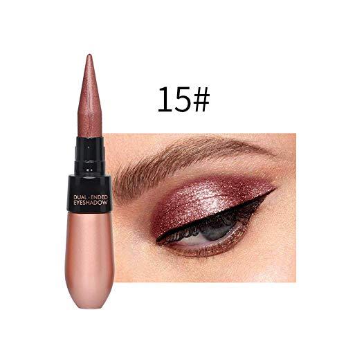 Sombra de Ojos Bolígrafo Belleza Resistente Al Agua Delineador de Ojos Crema Doble-Punta Duradero Portátil para Mujer - 15