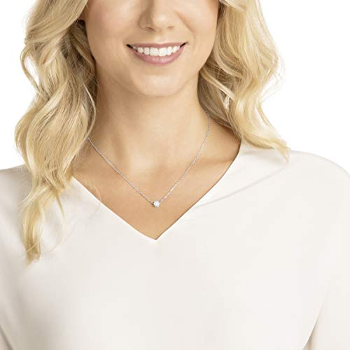 Swarovski Attract Circular Pendant Necklace with Clear Crystal and Rhodium Plated Chain, a Part of the Attract Collection