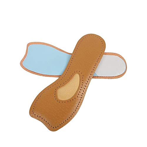 EWQK Elegant and Comfortable 1 Pair Ultra Thin Breathable Deodorant Leather Insoles Cowhide Instantly Absorb Sweat Replacement Inner Soles Shoes Insole Pads Breathable and durable