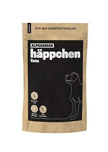 alphazoo häppchen | Snack Fleisch Hunde getreidefrei | gesunde Leckerli zur Belohnung und Training | Verschiedene Geschmacksrichtungen