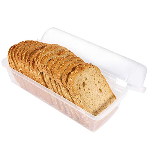 Youngever Plastic Bread Container, Bread Storage Bin, Bread Box for Countertop