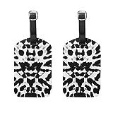 VORMOR Gepäckanhänger (Sortiert, 2 PK),Nahtloser schwarzer weißer naher Schmetterlings-Flügel, Gepäckanhänger, Kofferanhänger für Rucksäcke