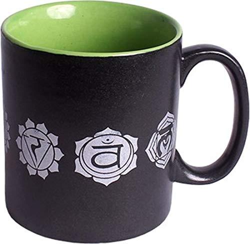 Taza de café con 7 chakras